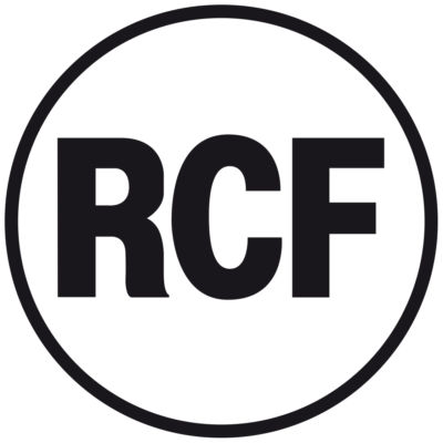 RCF Logo nero filetto